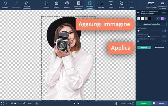 Cambiate lo sfondo di una foto con facilità