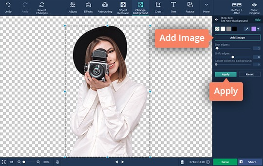 How to Change the Background of a Picture | Photo Backround Editor