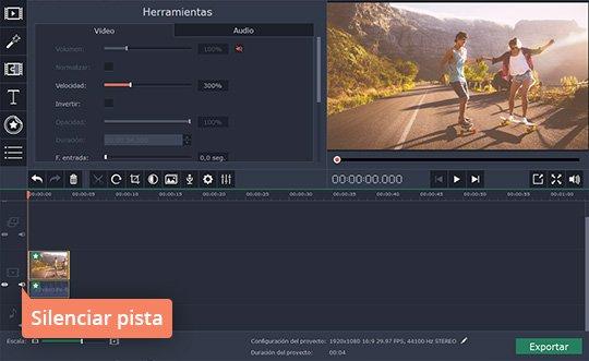 Cree los vídeos a cámara rápida con el software fácil de Movavi
