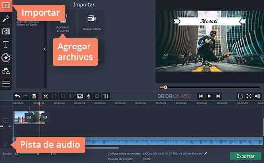 Agregue música al vídeo con fotos