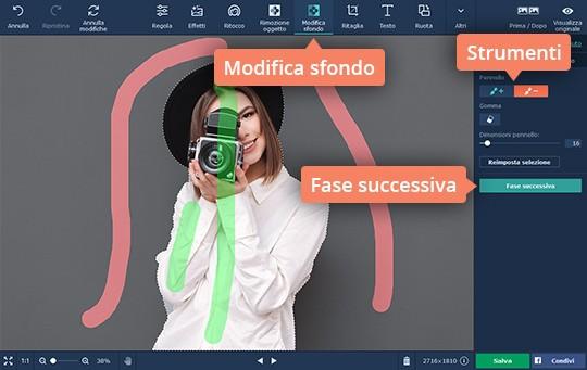 Scoprite come modificare lo sfondo di una foto