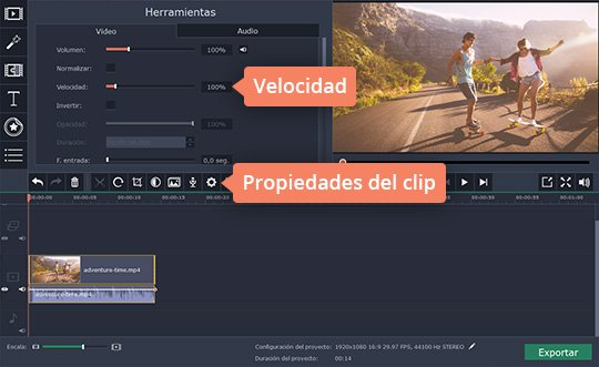 Acelere sus vídeos fácilmente con Movavi Video Editor