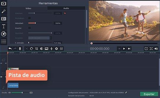 Use el poderoso programa para acelerar sus vídeos de Movavi
