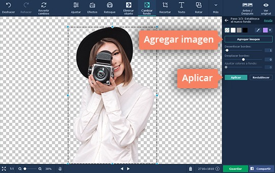 Aprenda cómo cambiar el fondo de una foto con el software de Movavi
