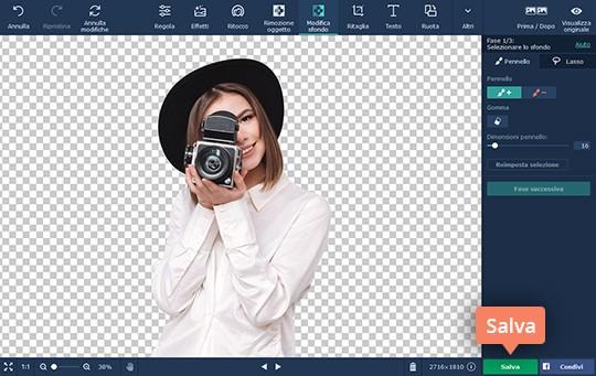 Come togliere sfondo photoshop