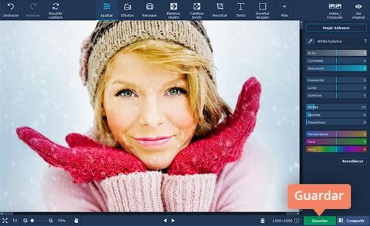 Mejore las fotos borrosas con el software sencillo de Movavi