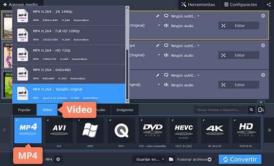 Convierta MTS a SVI y otros formatos fácilmente con Movavi Video Converter