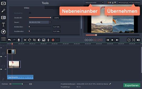 Teilen Sie den Bildschirm, wenn Sie Splitscreen-Video erstellen möchten