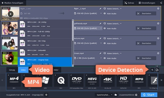Step 3 - How to convert video to MP4