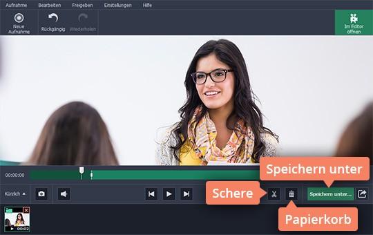 Bearbeiten Sie Ihre Aufnahme mithilfe von Movavi Webinar Software