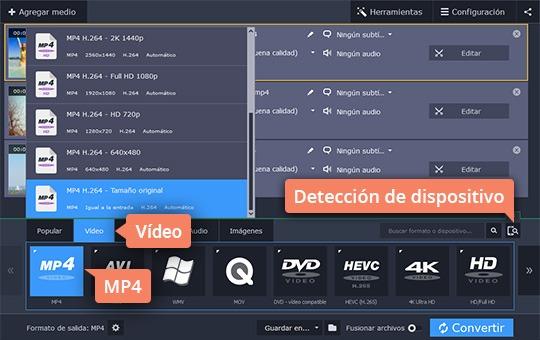 Convierta sus vídeos a MP4 fácilmente con Movavi Video Converter