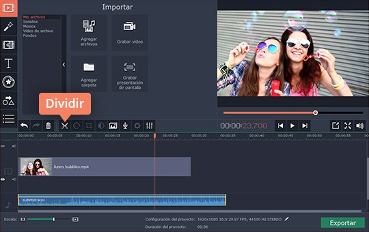 Añada música de fondo para sus vídeos con el software fácil de usar de Movavi