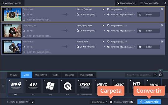Convierta a AVI cualquier vídeo con Movavi Video Converter