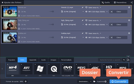 Utilisez le convertisseur vidéo AVI de Movavi