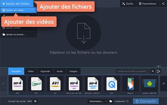 Convertissez MOV en AVI avec Movavi Video Converter