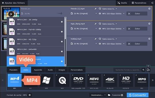 Convertissez AVI et d'autres formats vidéo sans effort