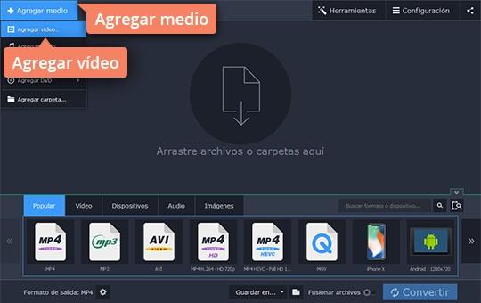 Convierta MP4 a WMV rápidamente con Movavi Video Converter