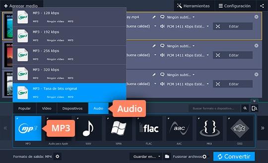 Separe el audio de un vídeo con el convertidor poderoso de Movavi