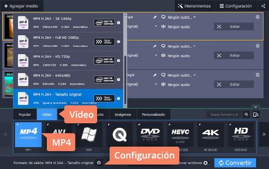 Aprenda cómo reducir el peso de un vídeo con el convertidor de Movavi