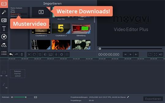 Erstellen Sie Video-Montage mit Movavis Mustervideos