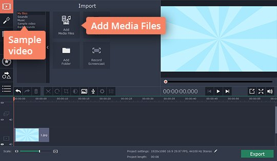 Add files to the collage video maker