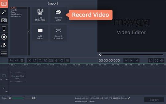 Launch webcam recording software