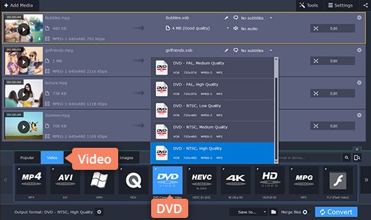 Video to DVD Converter | Convert Video to DVD with Movavi