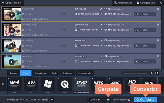 Use el programa para grabar vídeos en DVD Movavi Video Converter