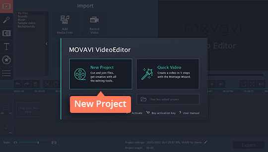 Download and install Movavi Video Editor to create a time-lapse video