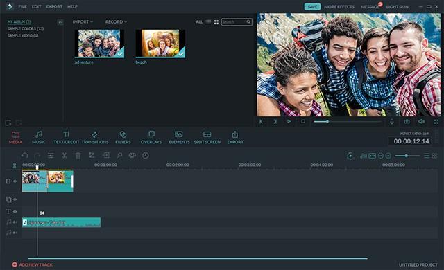 A screenshot of Wondershare Filmora Video Editor 8