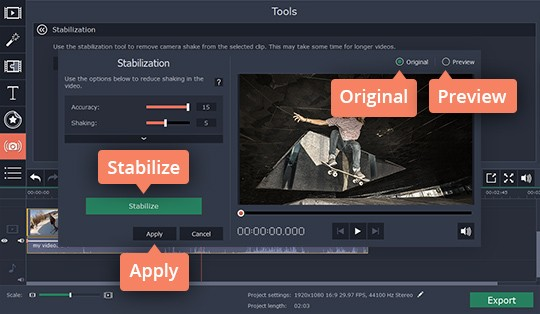 Video Stabilizer by Movavi | How to Stabilize Videos
