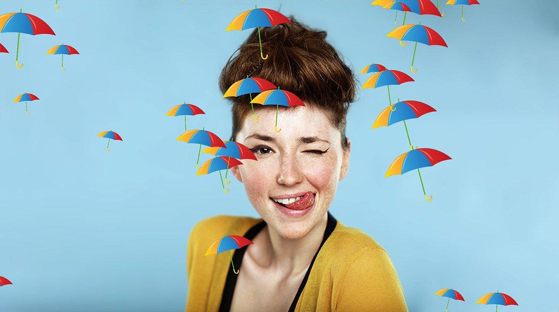 Сделайте видео веселее, добавив летающие зонтики