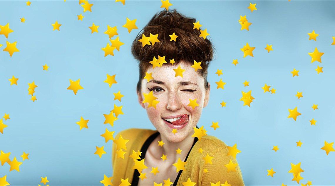 Внесите атмосферу праздника в ваш видеоролик с летающими звездочками
