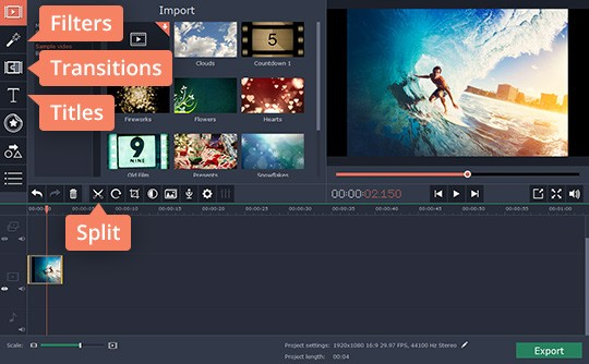 Use a variety of options available in video montage maker to create an amazing video