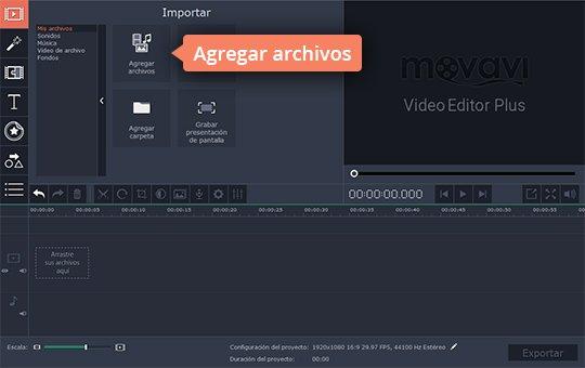 Haga el montaje de vídeos con el programa de Movavi