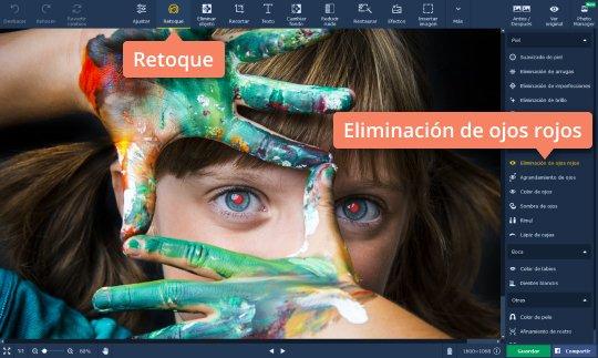 editor de fotos para quitar ojos rojos