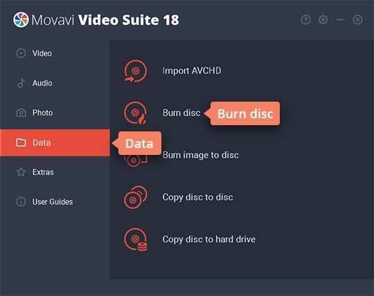 Add your media files to DVD burning software