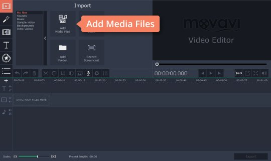 Add media files to the program to rotate MOV videos