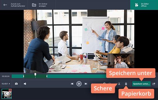 Probieren Sie, mit Movavi Screen Recorder Skype aufzuzeichnen