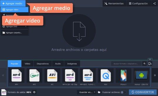 Use el convertidor de vídeo a MP3 de Movavi Video Converter