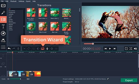 Use Transition Wizard if you want to insert transitions between all video segments