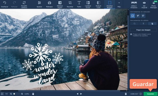 Superponer y combinar fotos en una con Movavi Photo Editor