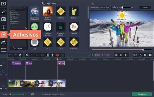 Use el editor gratuito de YouTube de Movavi