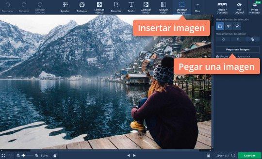 Usar la aplicación para superponer fotos de Movavi