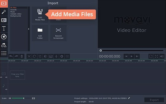 Add media files to the program to make your own movie