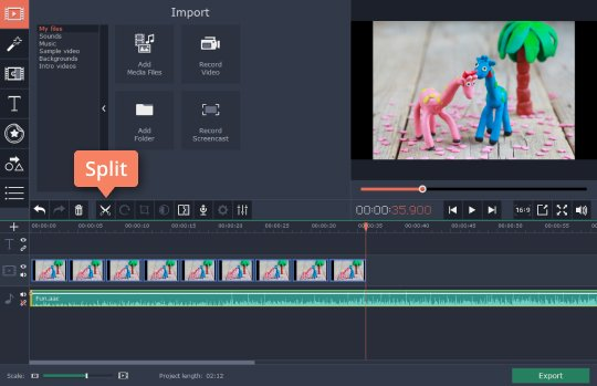 Add music to the cartoon video editor