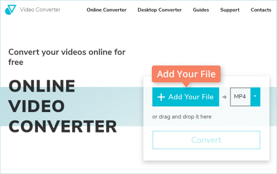 Step 2 - How to convert MOV to MP4 online