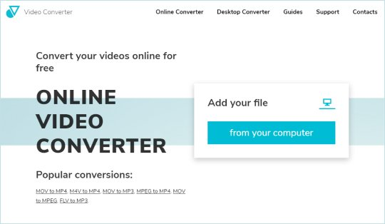Step 2 - How to convert MP4 to MOV online