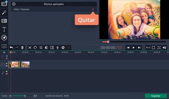 Use el software para efectos especiales de vídeo de Movavi