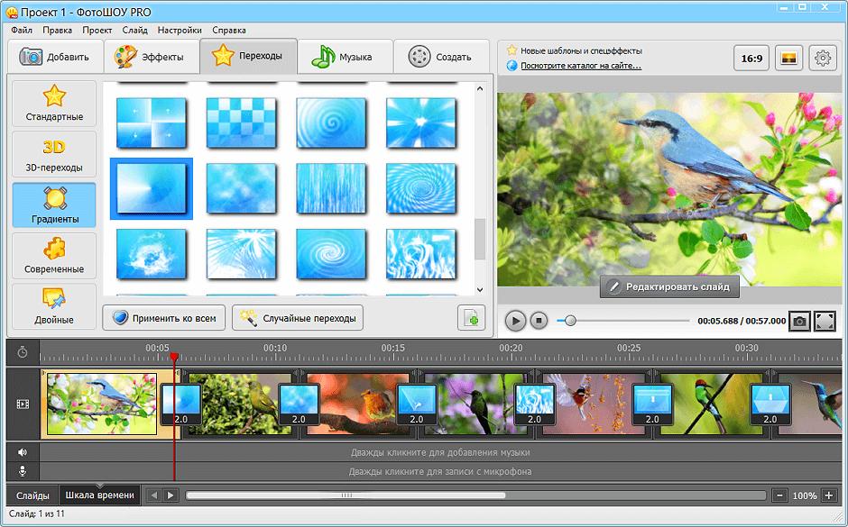 программы для создания слайдов фотошоу редких случаях шубная